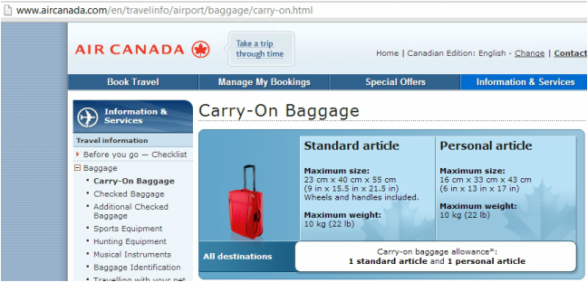 Air Canada Carry On