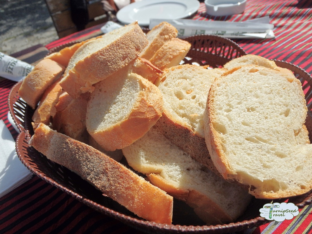 Sliced bread, cafe, Hagia Sofia, Trabzon