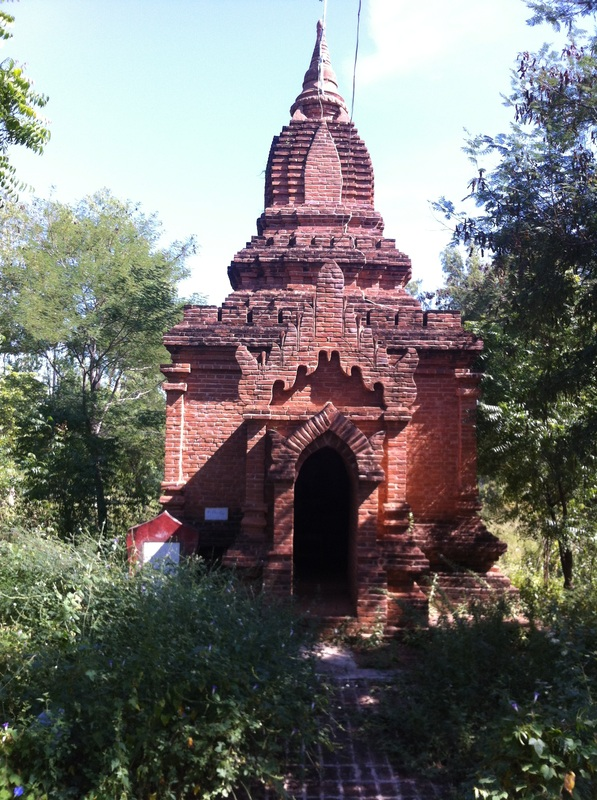 Ancient temples and Buddhas in Bagan, Burma