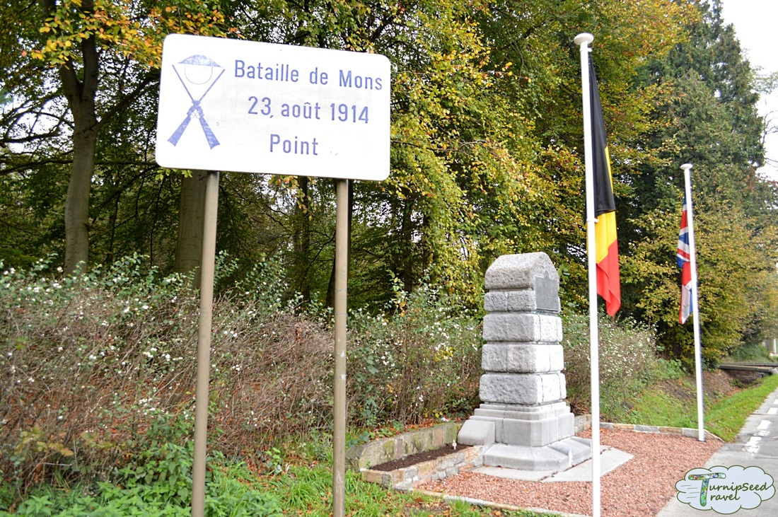 Monument to the Bataille de Mons of August 23, 1914