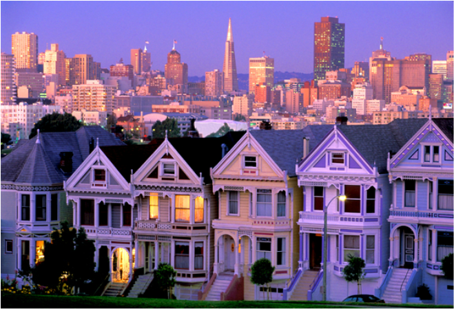 Painted Ladies - courtesy Wikimapia.org
