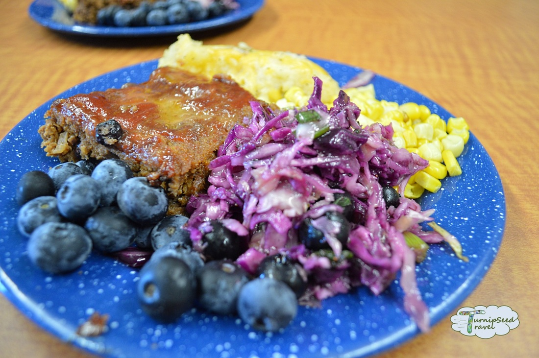 Parks Blueberry Chatham Kent meatloaf lunch