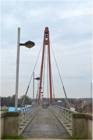 Footbridge honoring George Price Ville sur Haine Belgium