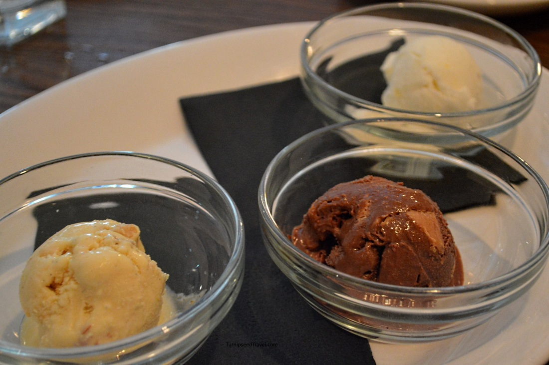 A trio of homemade ice cream
