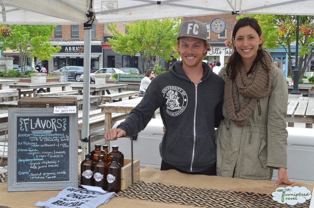 Shannon and Shawn of Booch Organic Kombucha London Covent Market Ontario