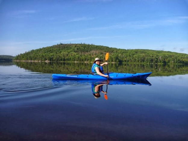 Kayaking for the first time in Algonquin Park