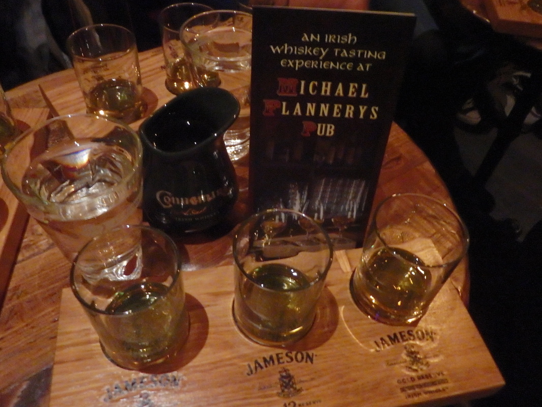 Whiskey tasting at Michael Flannery's Pub in Limerick
