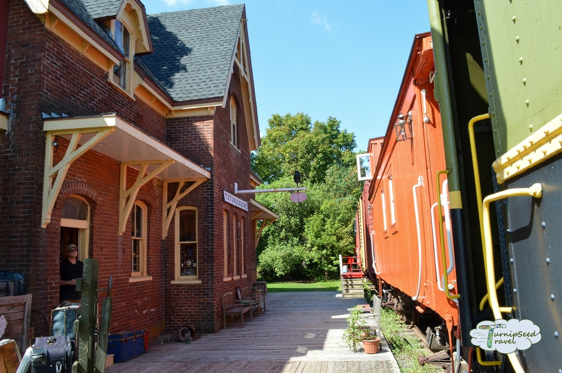 Train Station Inn Tatamagouche Nova Scotia dining car Jitney Cafe and gift shop