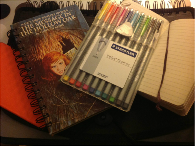 Staedtler fineliner pens and recover journals travel
