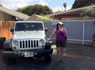 Budget travel in Maui - outside rental cottage