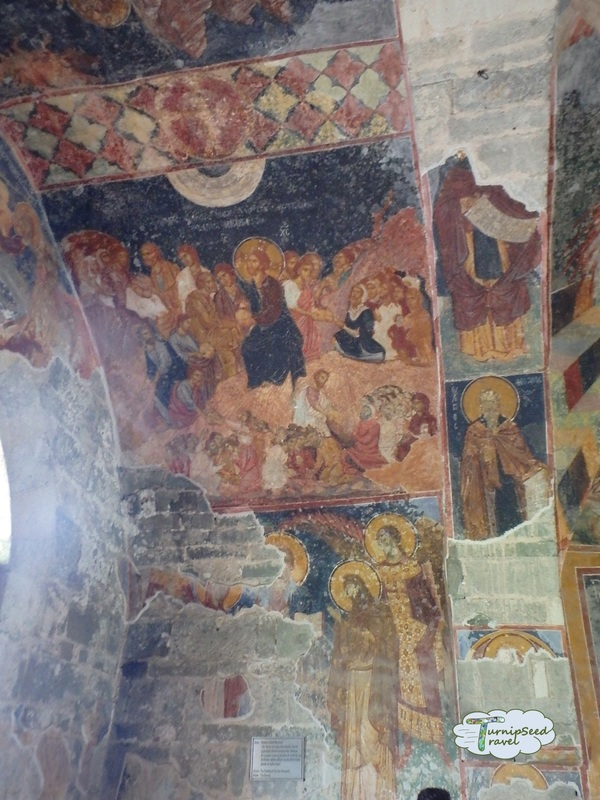 Damaged fresco Hagia Sophia Trabzon
