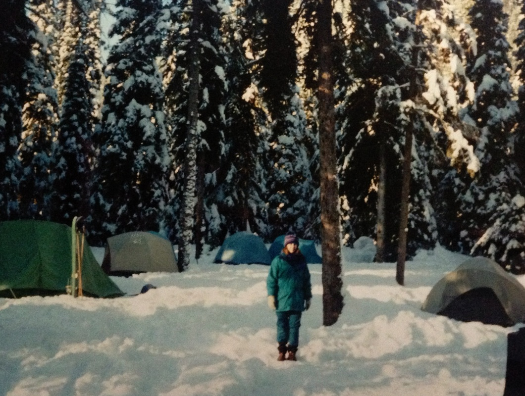 Winter camping in British Columbia