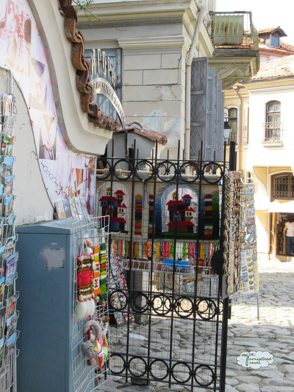 Art on display in old town Plovdiv Picture