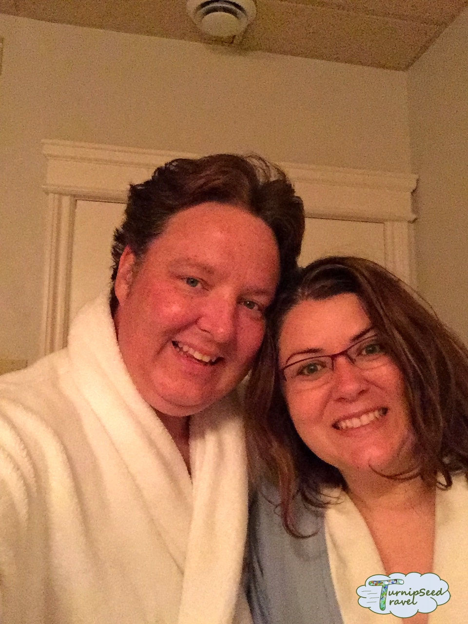 Mahogany salon and spa Carleton Place posing in bathrobes Picture