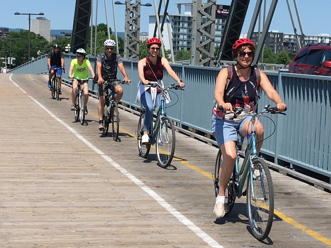 Biking in Ottawa: Four cyclists cross the inter-provincial bridgePicture
