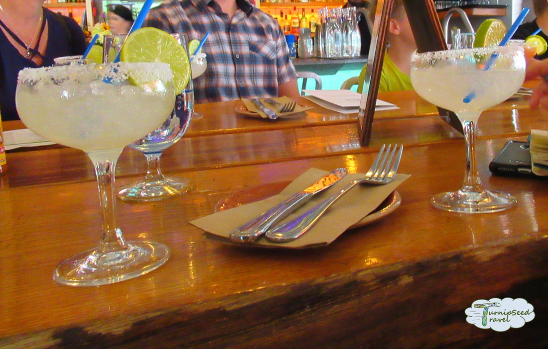 Salt rimmed margaritas at Dianne's Fish Shack and Smokehouse