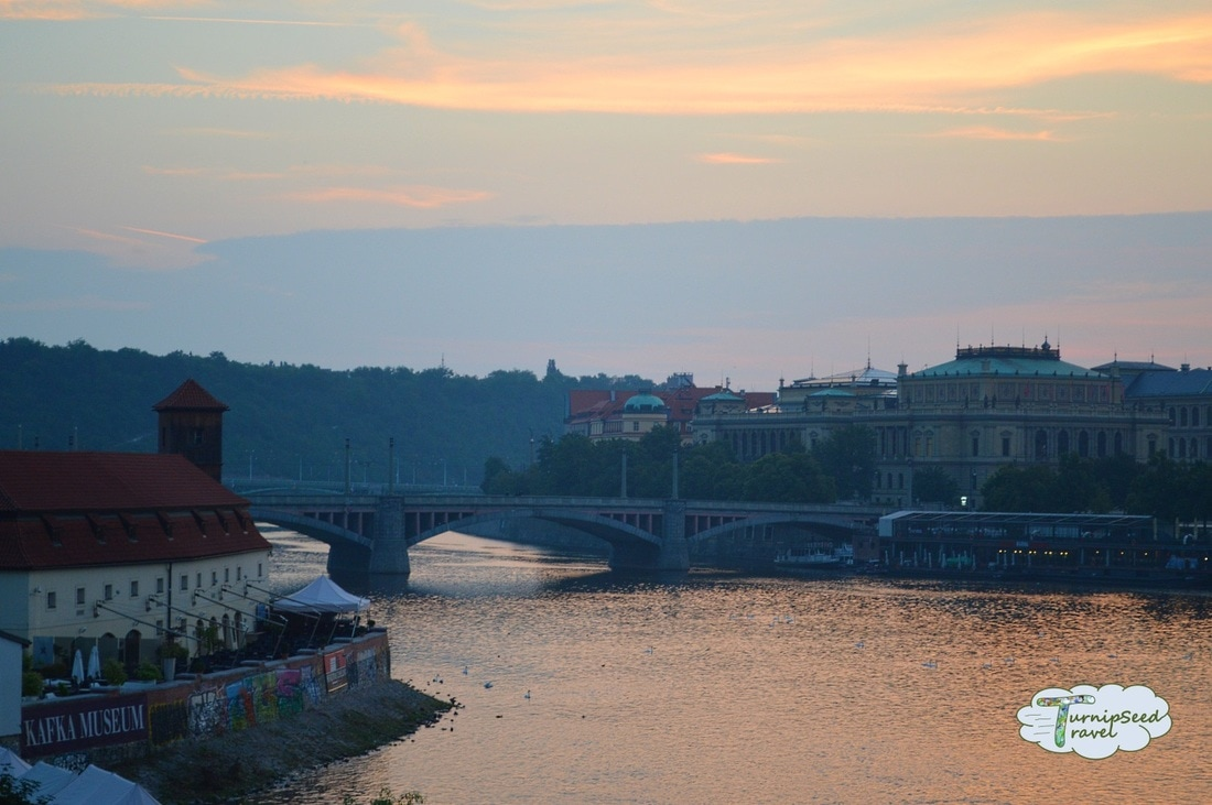 View of the Vltava River from the Charles Bridge Picture