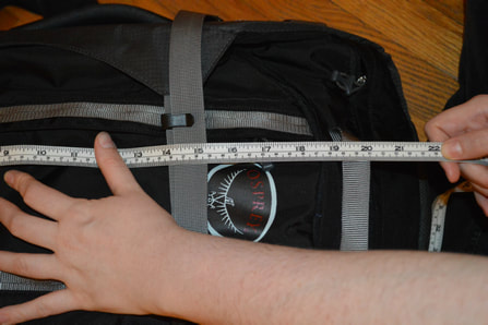 TurnipseedTravel Product Review: Measuring a black backpack