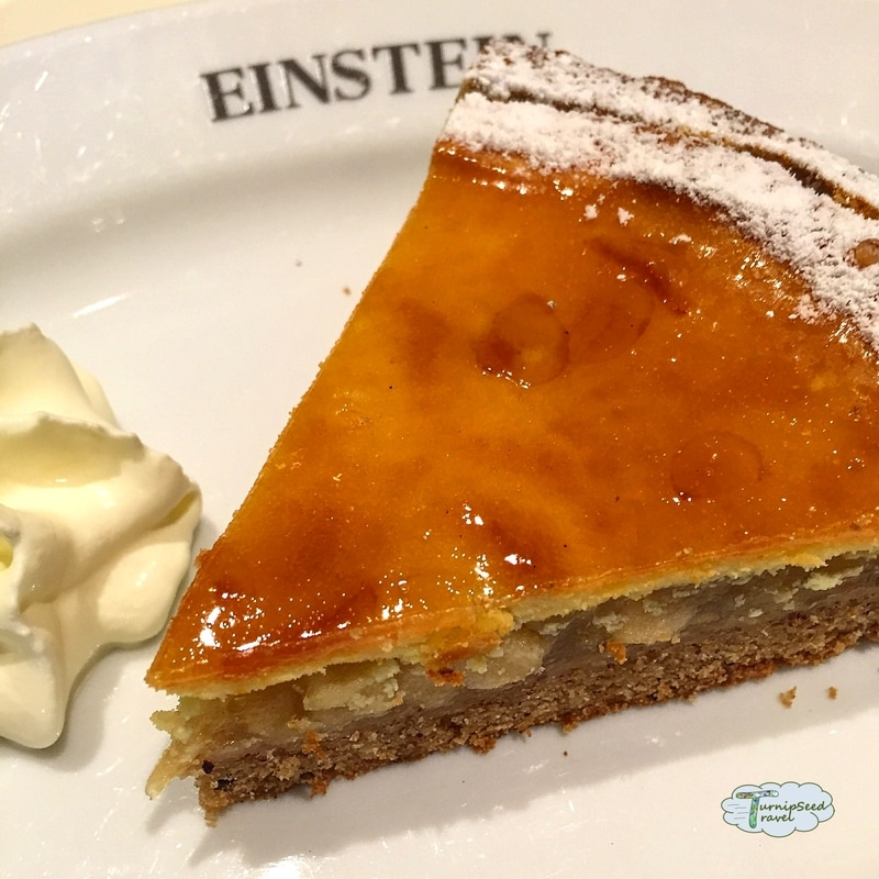 Apple cake from the Einstein Cafe. Picture
