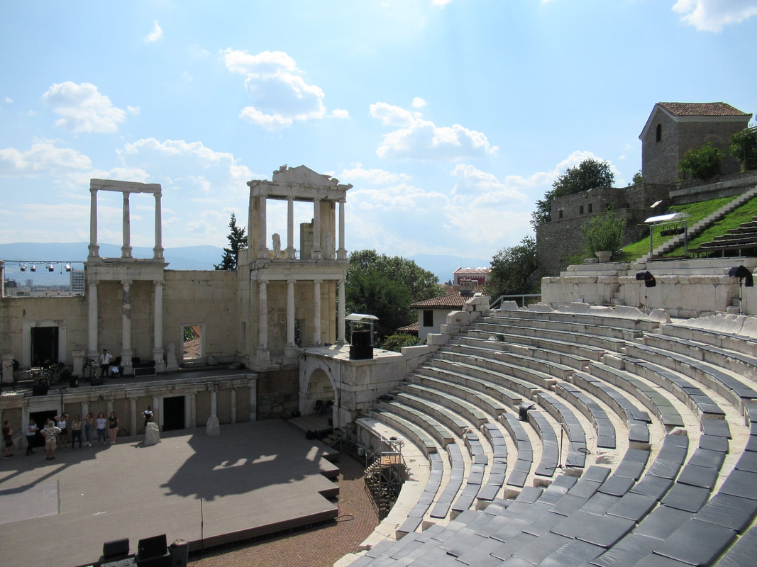 Roman Amphitheater Plovdiv Old Town Picture