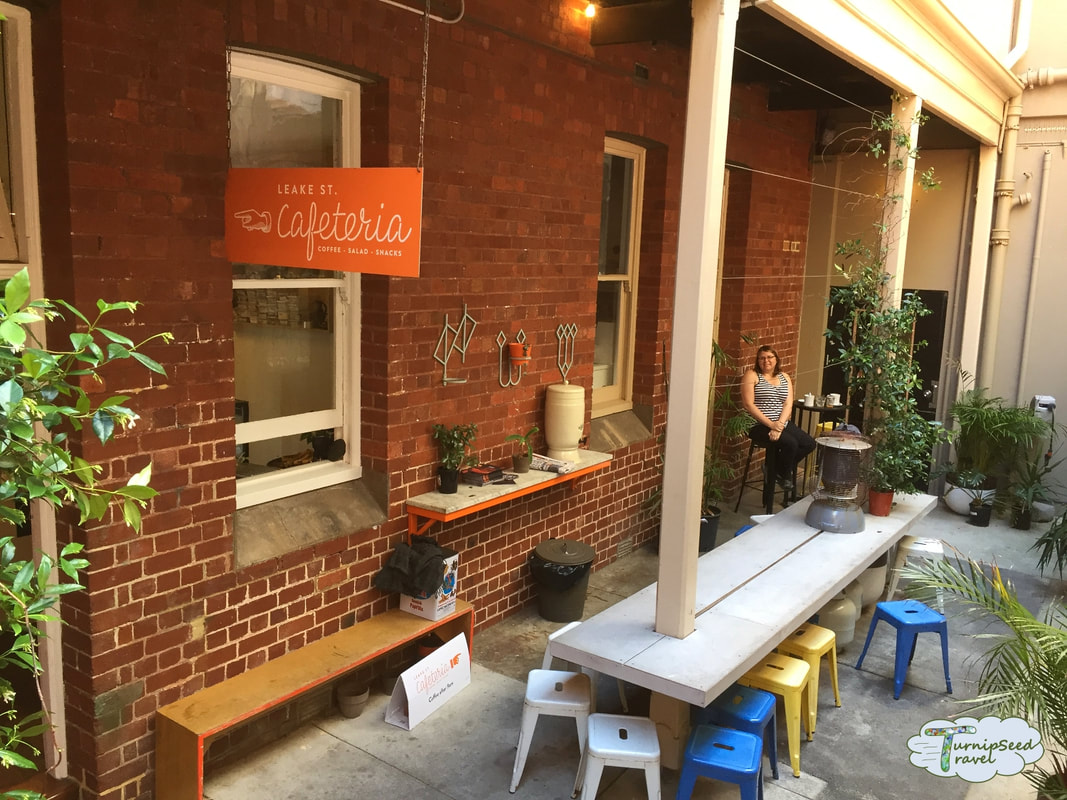 Fremantle coffee Leake St Cafeteria courtyard