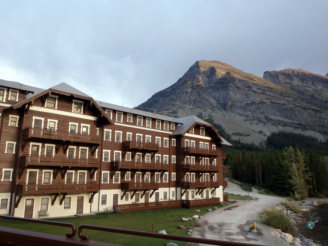 Exterior of Many Glacier Hotel Montana Picture