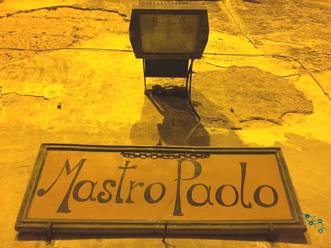 Pottery sign outside Mastro Paolo shop in Orvieto by TurnipseedTravel