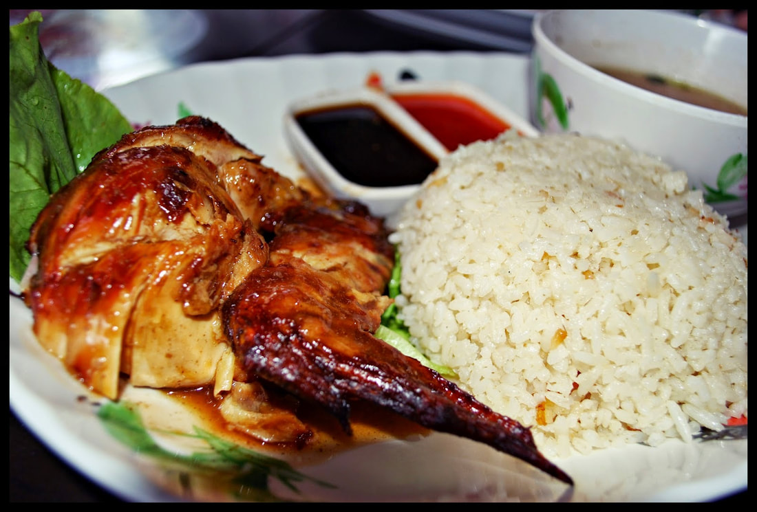 Chicken and rice platter Bali Picture