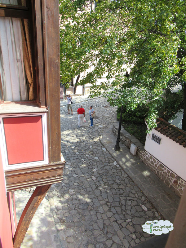 Cobblestones in old town Plovdiv Picture