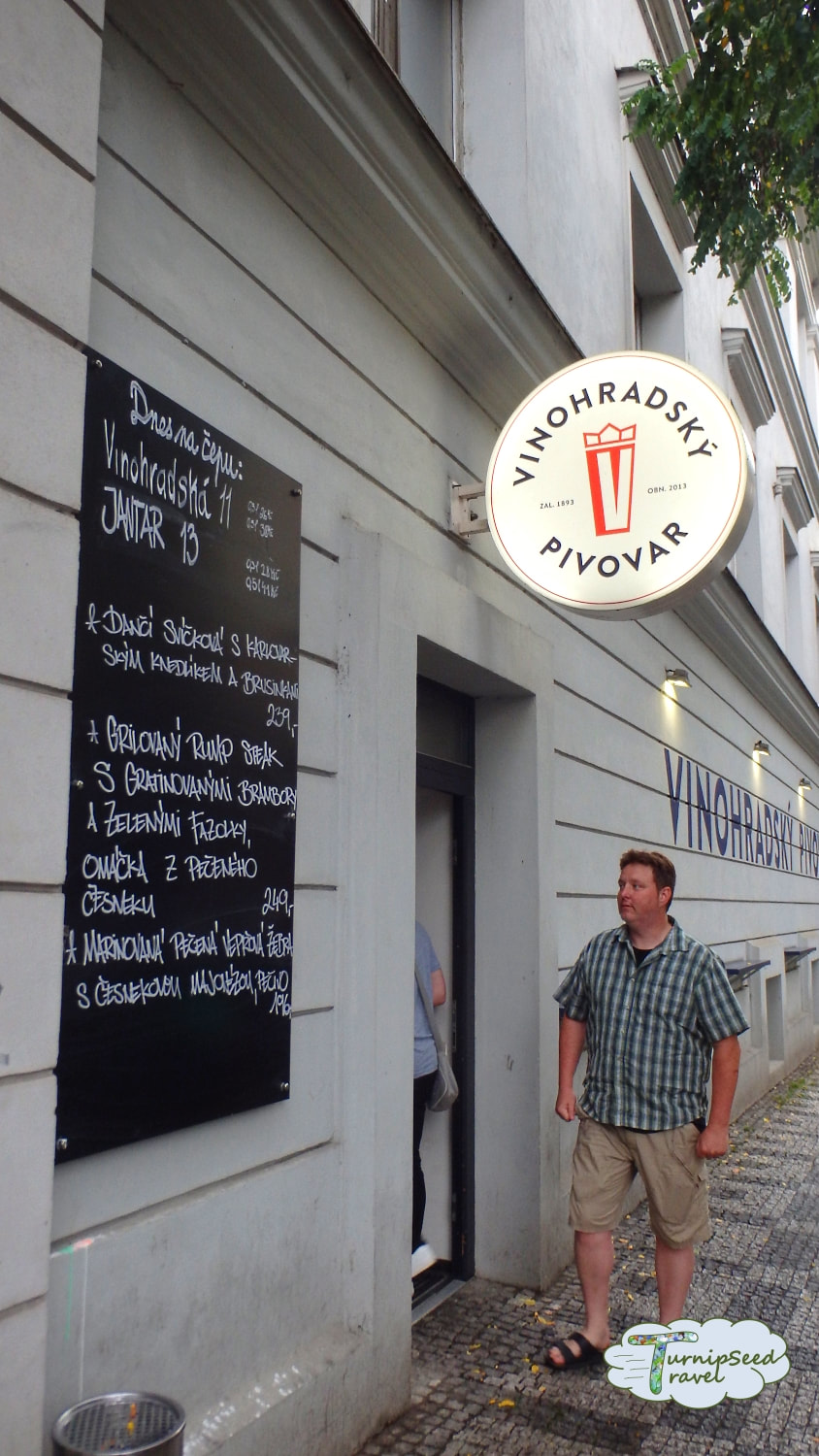 Standing outside Vinohradsky Pivovar on Prague's Best Beer Tour Picture