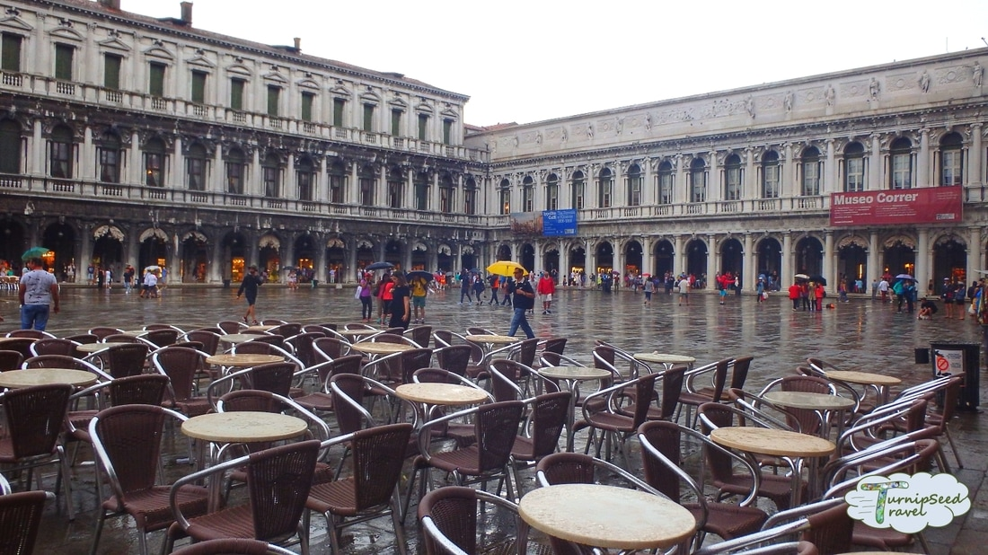 St Mark's Square in the rain Picture