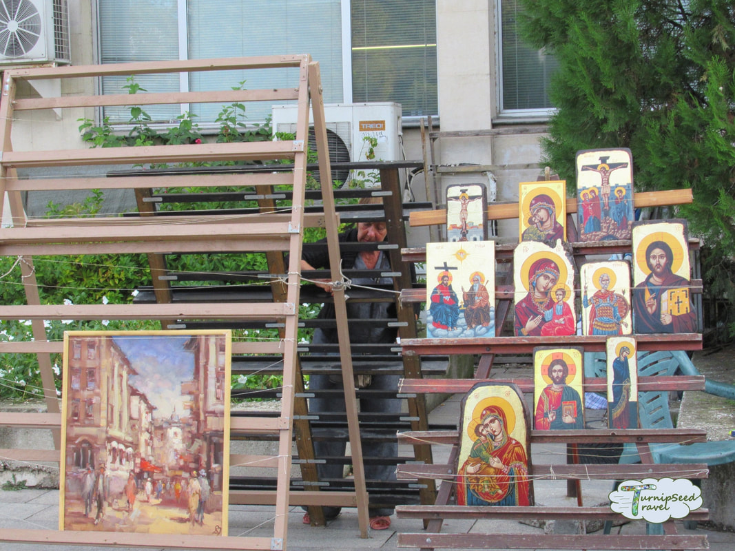 Religious art Plovdiv by Post Office Picture