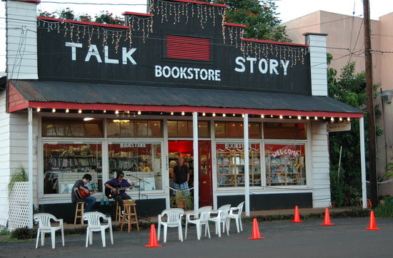 Black and white exterior of TalkStory bookstorePicture